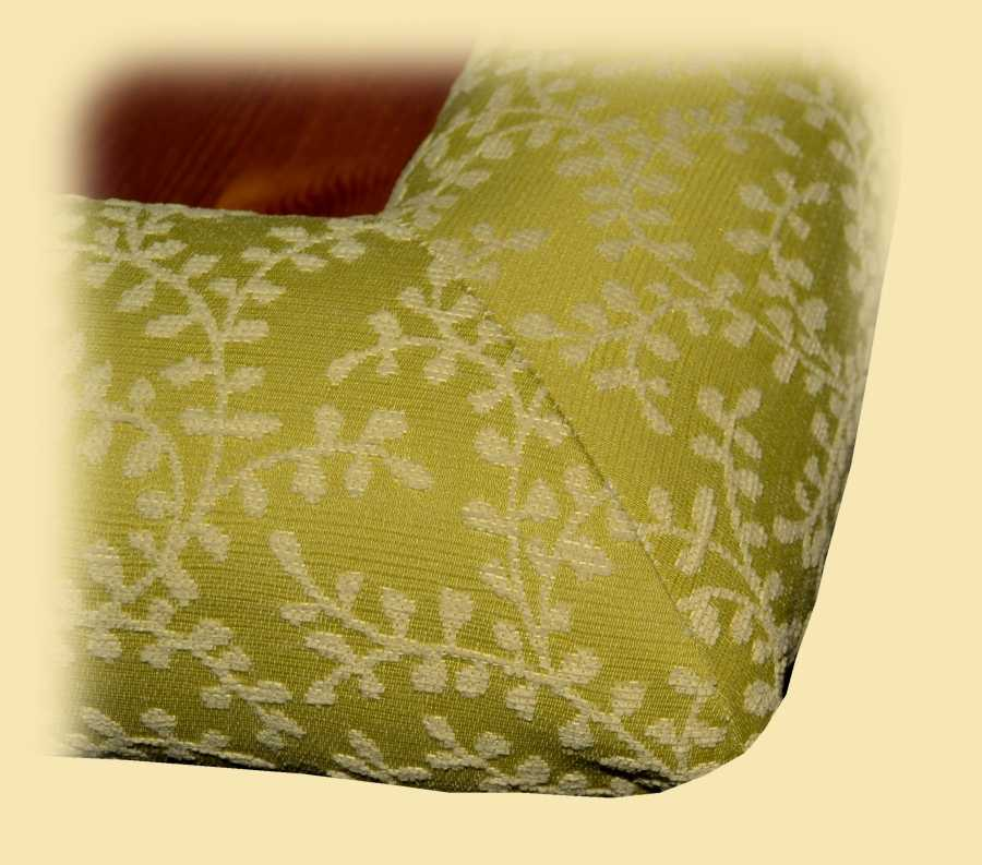 Corner of Padable Coffee Table in Fiorano Trailing Leaf Fabrics