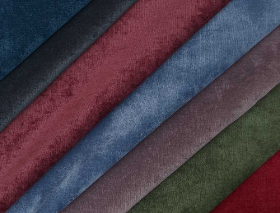 Padables range of Messina Soft Velvet Fabric