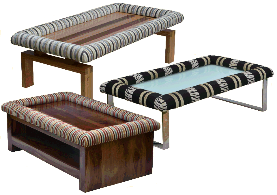 Examples of our Padable Footrests complete with Coffee Table